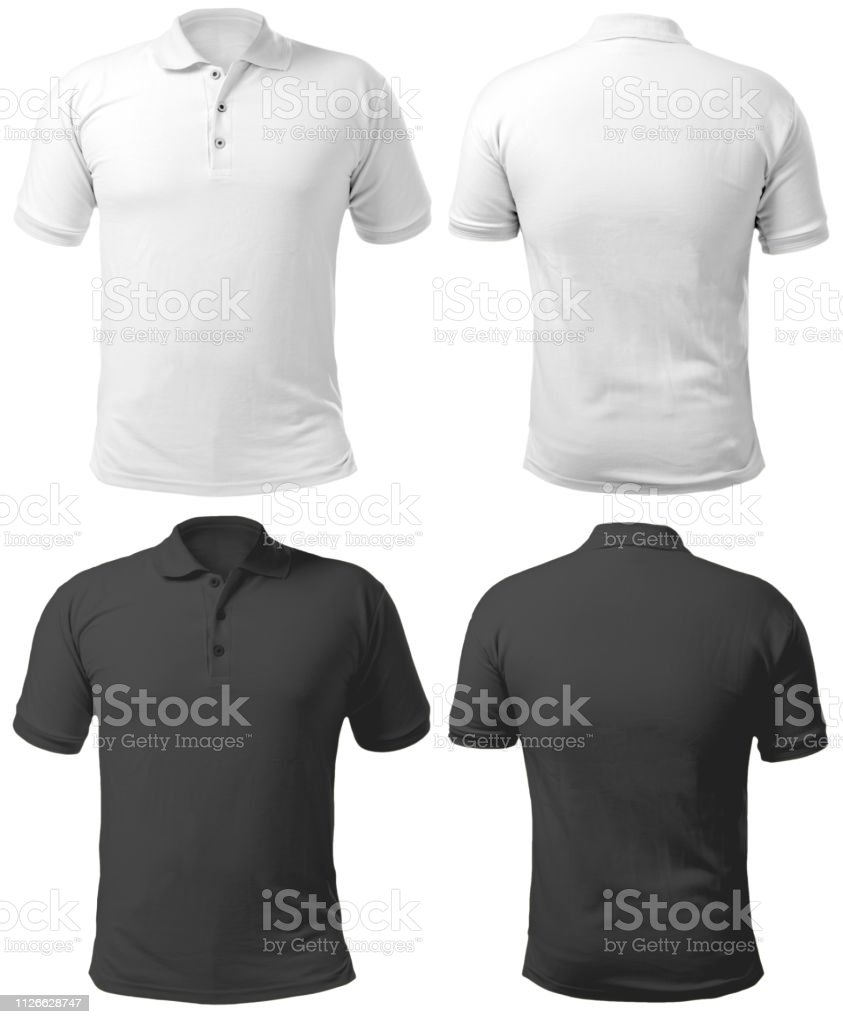 Black and White Collared Shirt Design Template stock photo