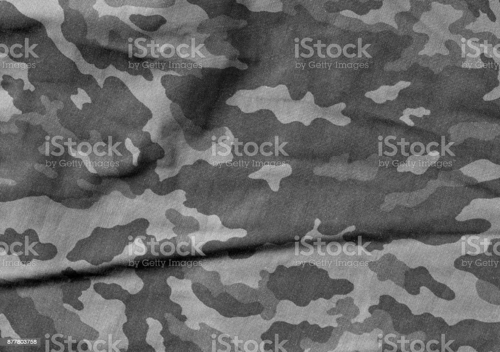 Black and white color camouflage cloth pattern. stock photo
