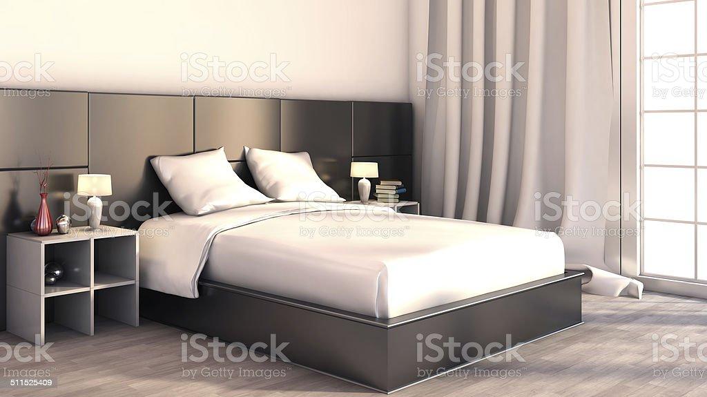 Schwarz Und Weiß Farbe Im Schlafzimmer Stockfoto und mehr ...