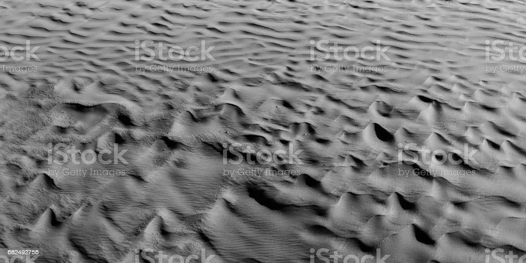 Black and White color (B&W). Natural texture and background of the desert. Sand patterns royalty-free stock photo