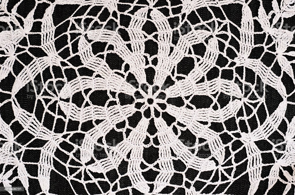 Black and white crochet background royalty-free stock photo