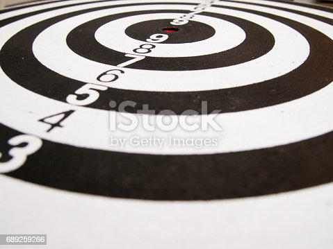 886643538 istock photo Black and white dart (Concept for target, achievement, business focus) 689259266