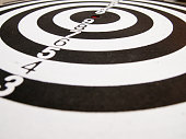 istock Black and white dart (Concept for target, achievement, business focus) 689259266