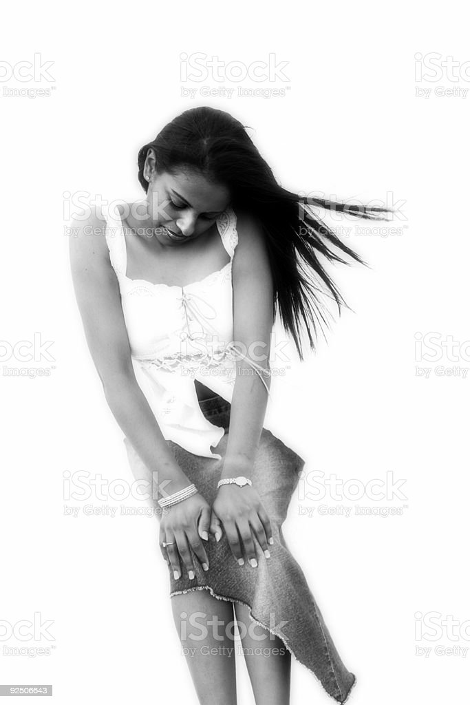 Black and White Demure royalty-free stock photo