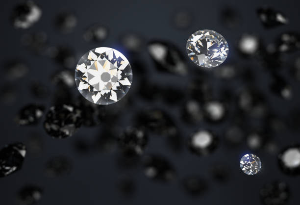 Cтоковое фото black and white diamonds on a dark abstract background