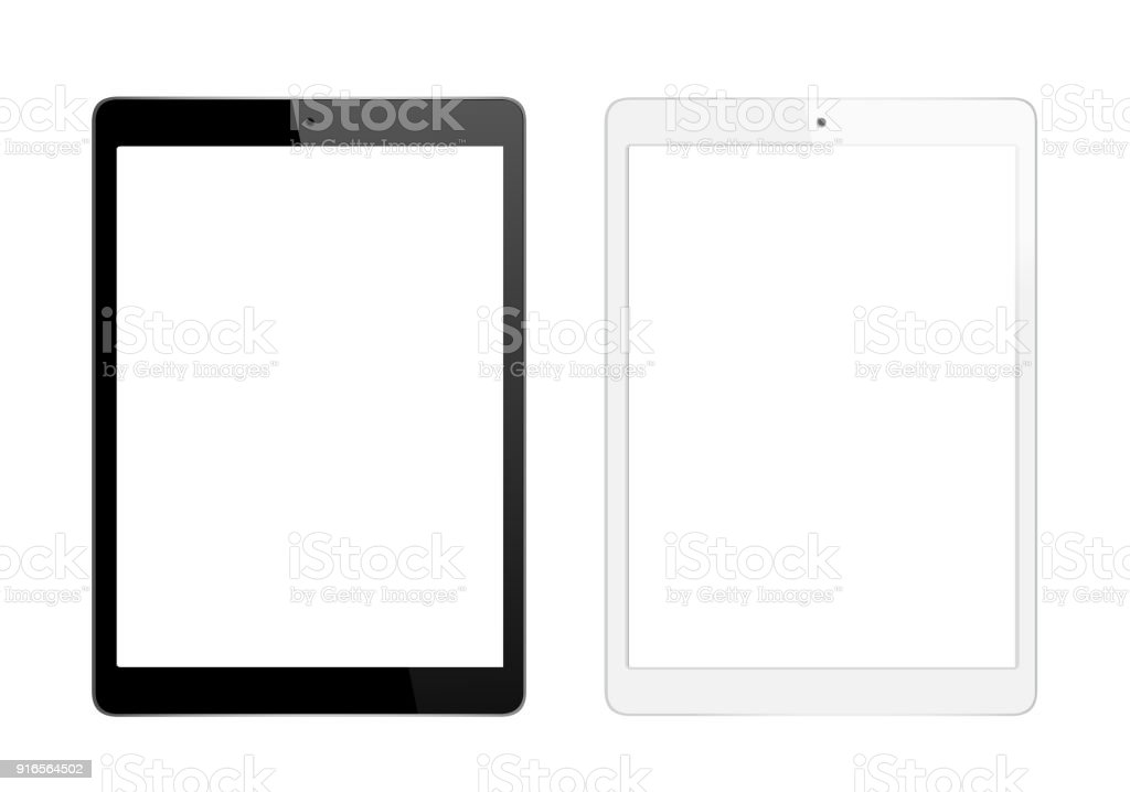 Black and White Digital Tablet stock photo