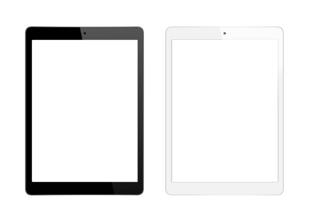 black and white digital tablet - tablet stock photos and pictures