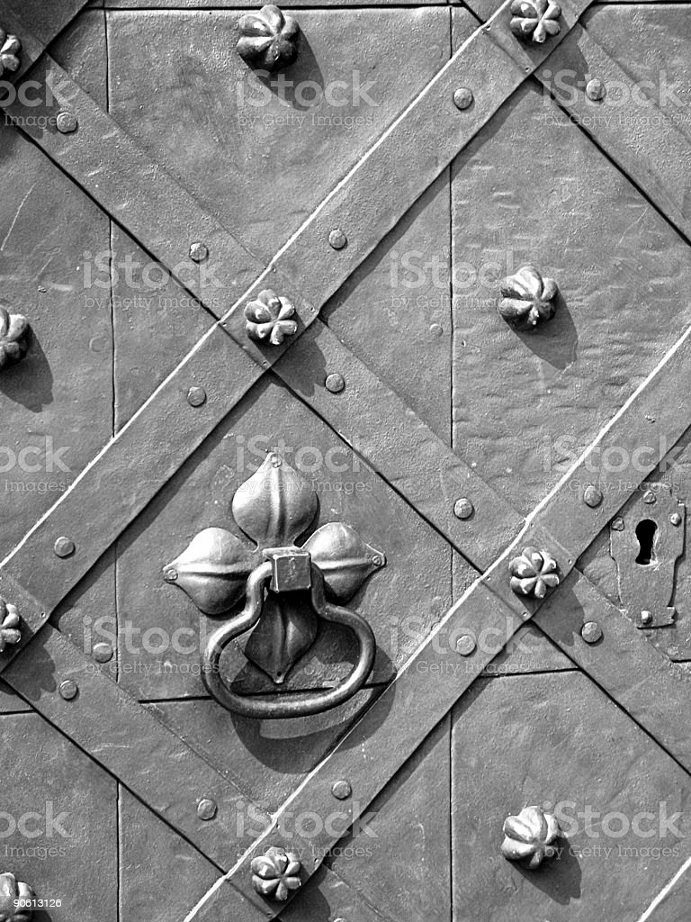 black and white door royalty-free stock photo