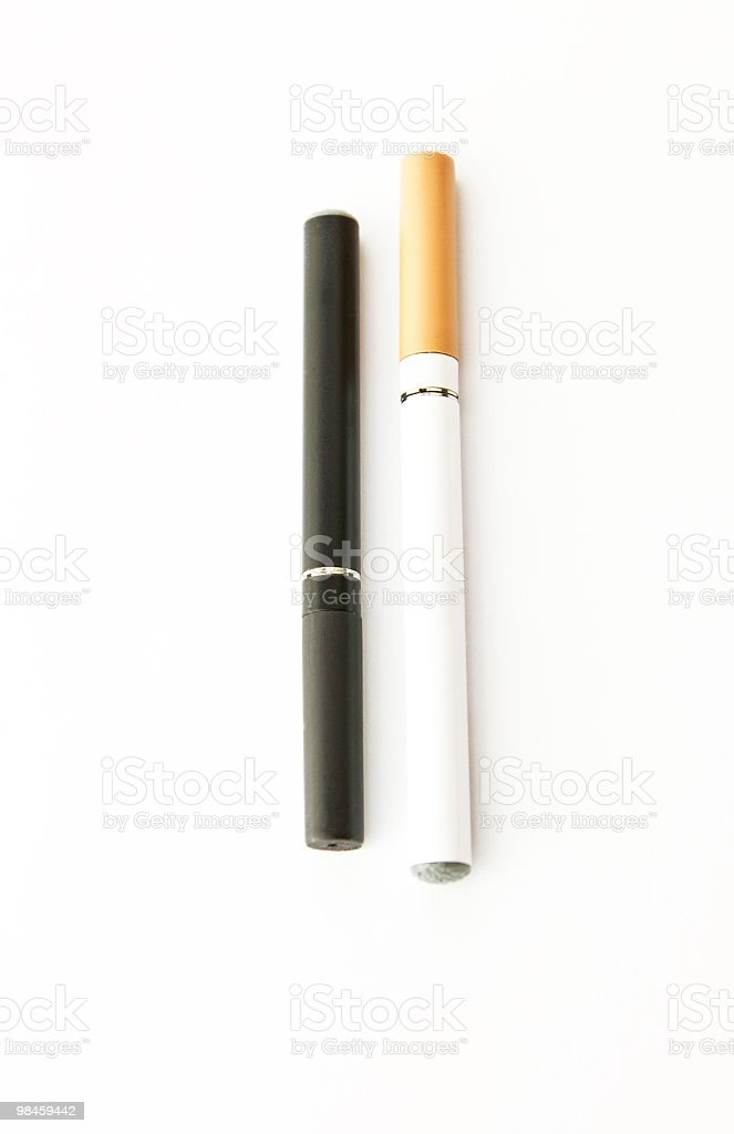 Black  And White Electronic Vapor cigarette royalty-free stock photo