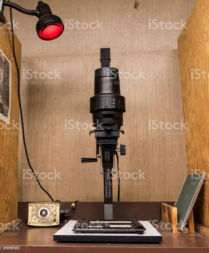 Ampliador de preto e branco - foto de acervo