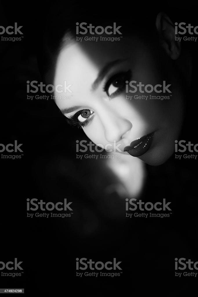 black and white feelings stock photo