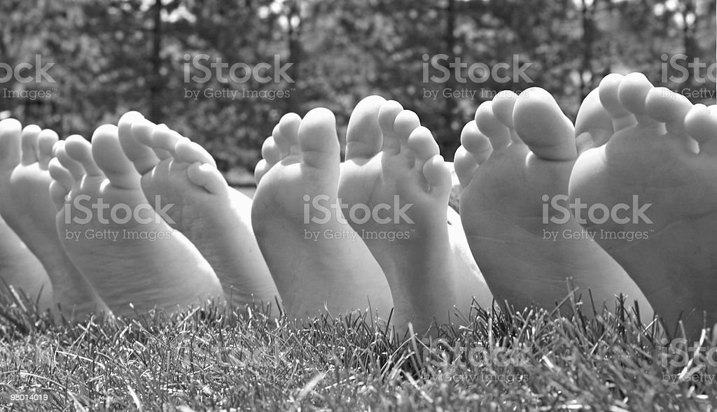Black and White Feet royalty-free stock photo