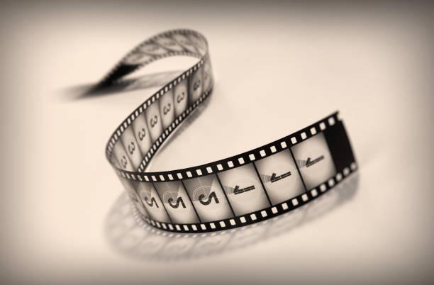 Black and white film reel countdown stock photo