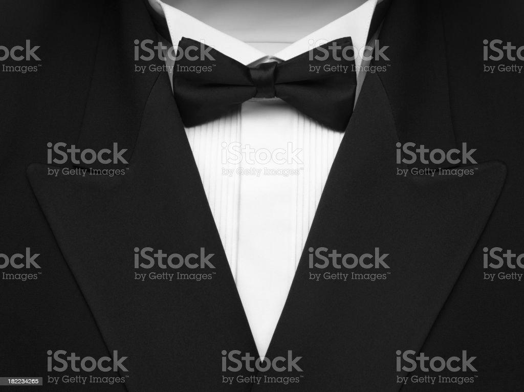 Black and White Formal Dinner Wear stock photo