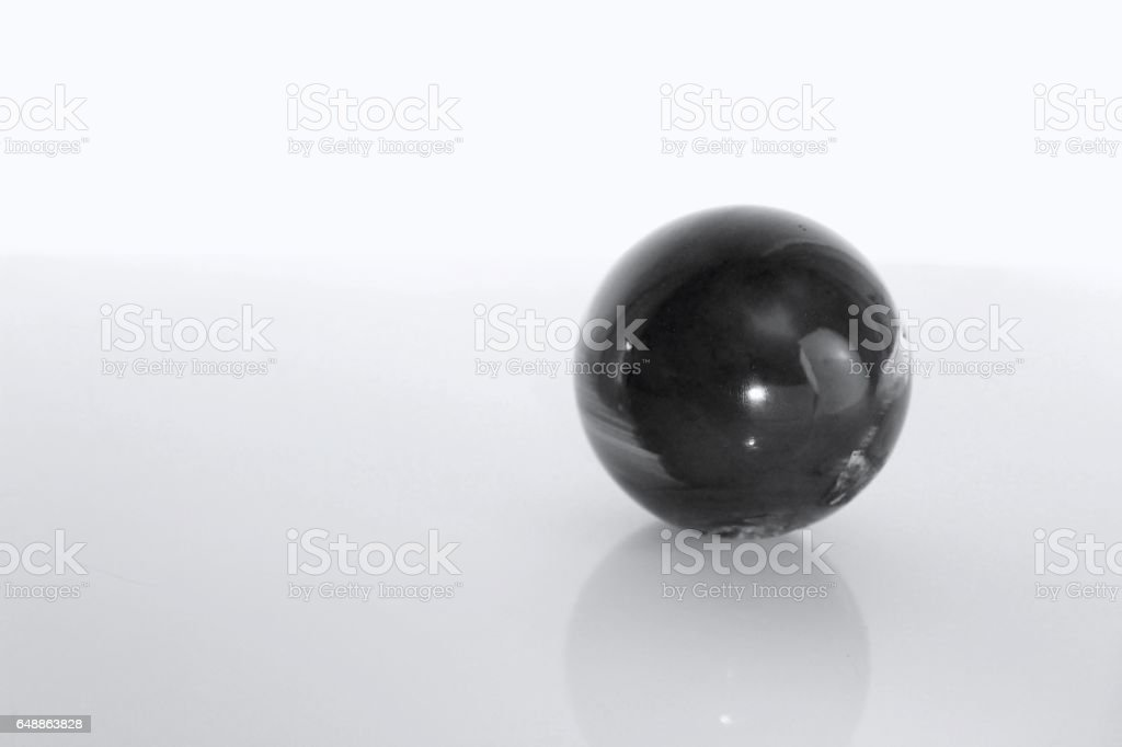 Black and White Gem Stone Ball Isolated stock photo