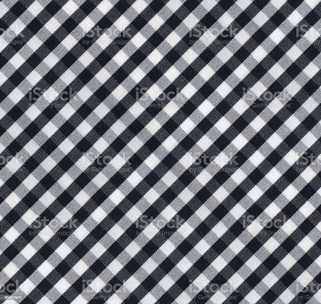 Black and White Gingham Tablecloth Pattern royalty-free stock photo