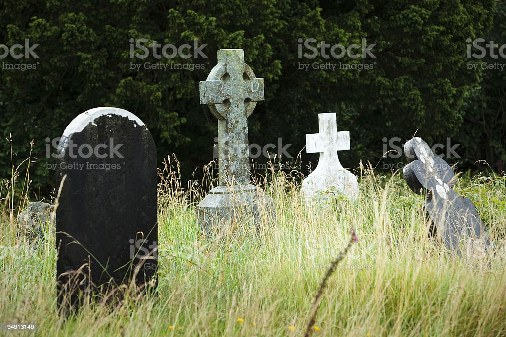 Black and White Graveyard royalty-free stock photo