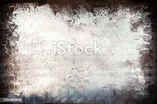 924754302 istock photo Black and white grunge background. Dust Overlay and  Distress Background with scratches. Dark messy wallpaper. 1034863946