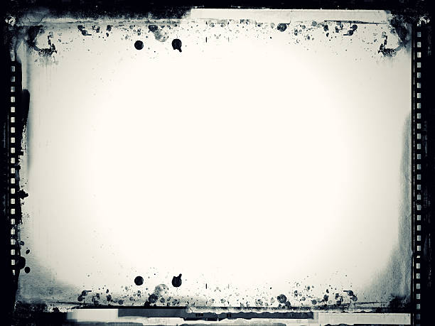 Black and white grunge film frame Computer designed highly detailed grunge film frame with space for your text or image. Nice grunge element or background for your projects.  photographic slide stock pictures, royalty-free photos & images