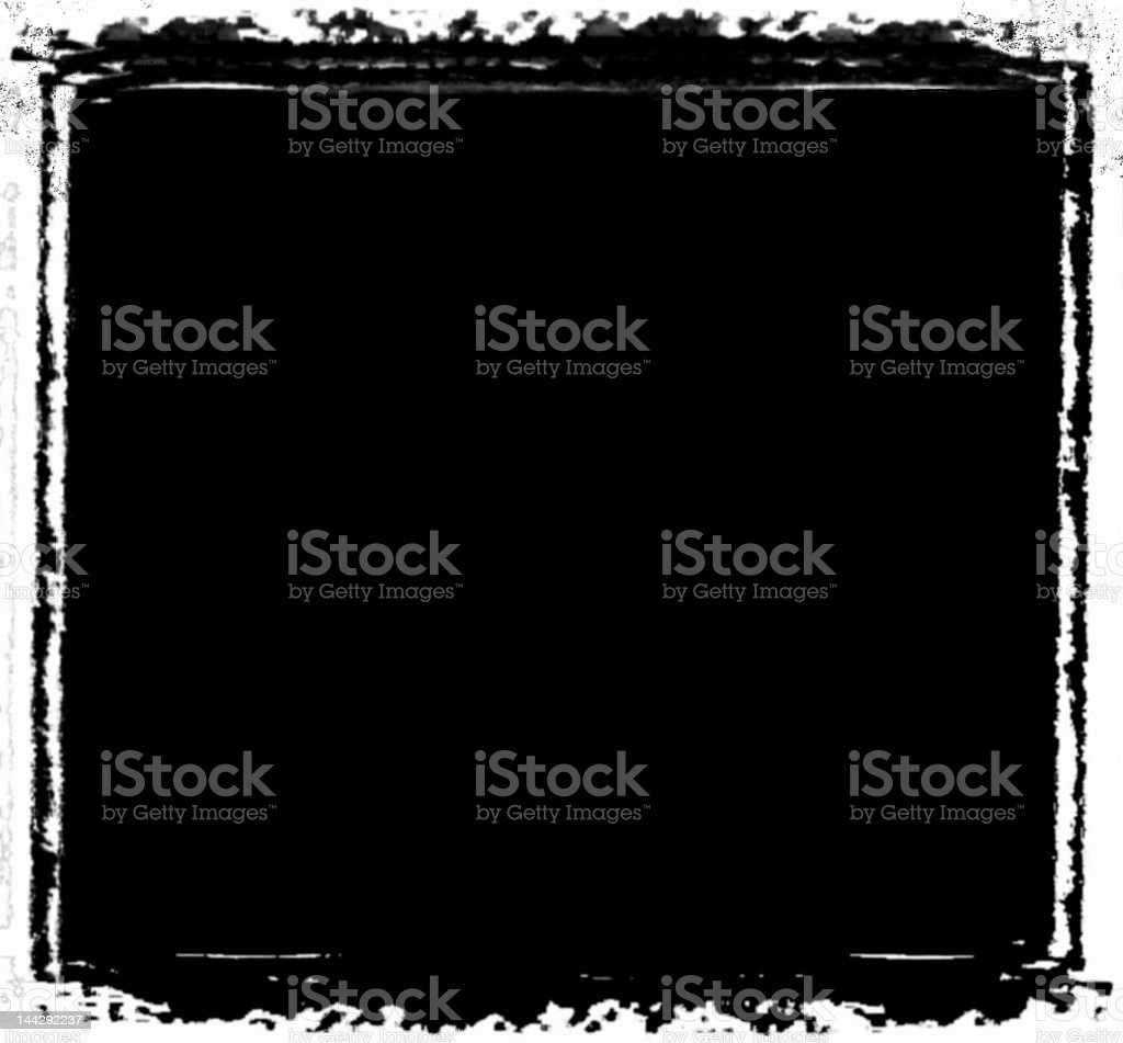 A black and white grunge frame stock photo