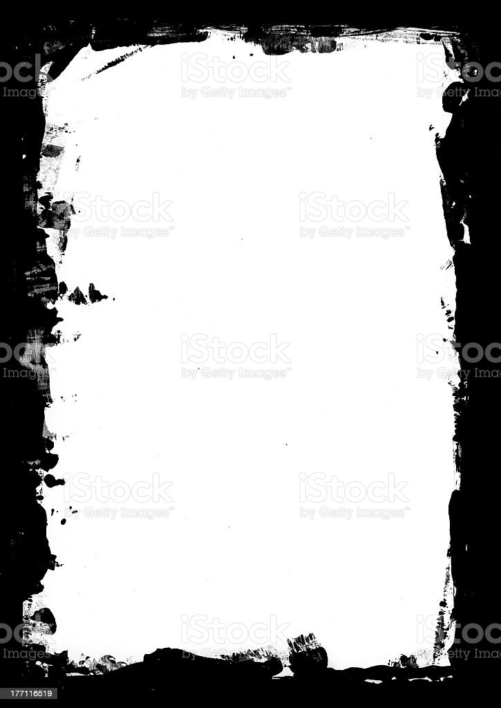 Black and white grunge paint mask royalty-free stock photo