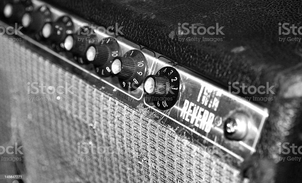 Black and White Guitar Amplifier stock photo