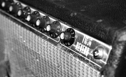 Black And White Guitar Amplifier Stock Photo - Download ...