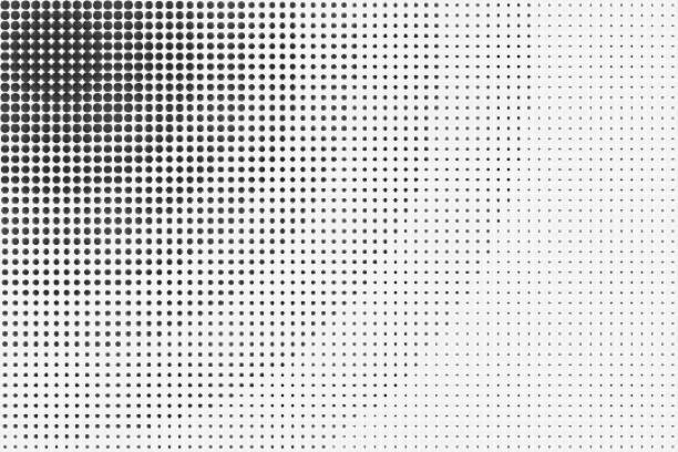 Black and White Halftone Abstract Background stock photo