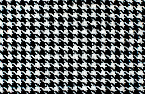 Black and white houndstooth pattern. stock photo