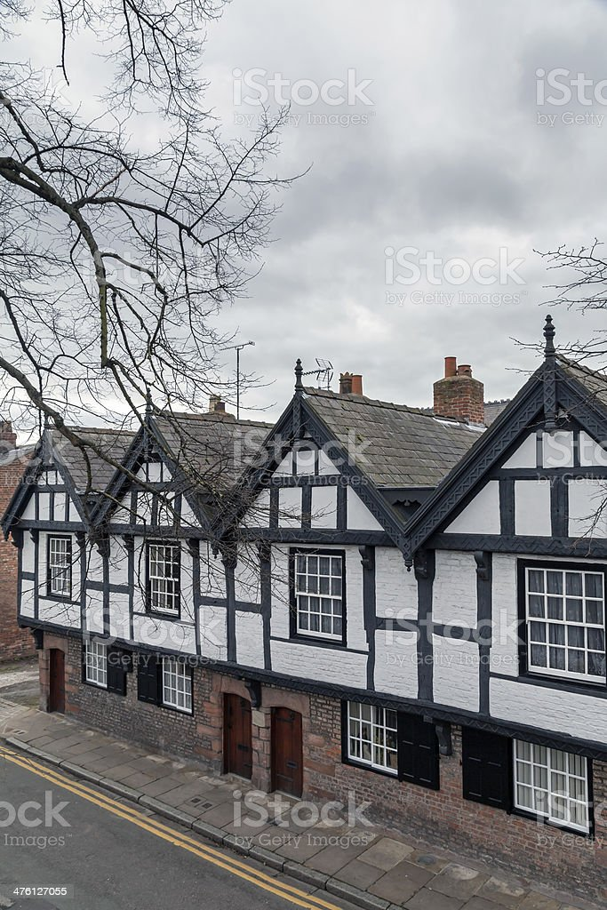 Black and White houses in Chester, Cheshire stock photo