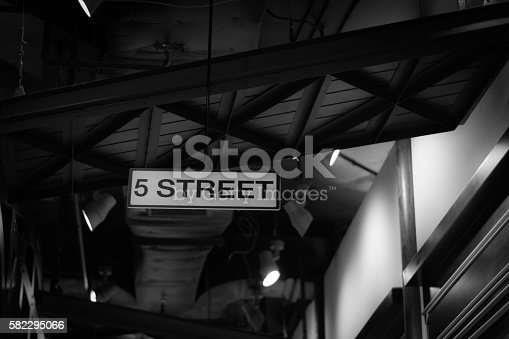 istock Black and White Indoor structure 582295066