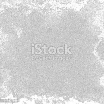 istock Black and white ink spotted texture. 1147827989