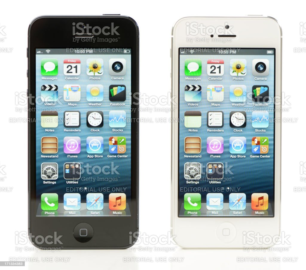 Black and White iPhone 5 royalty-free stock photo