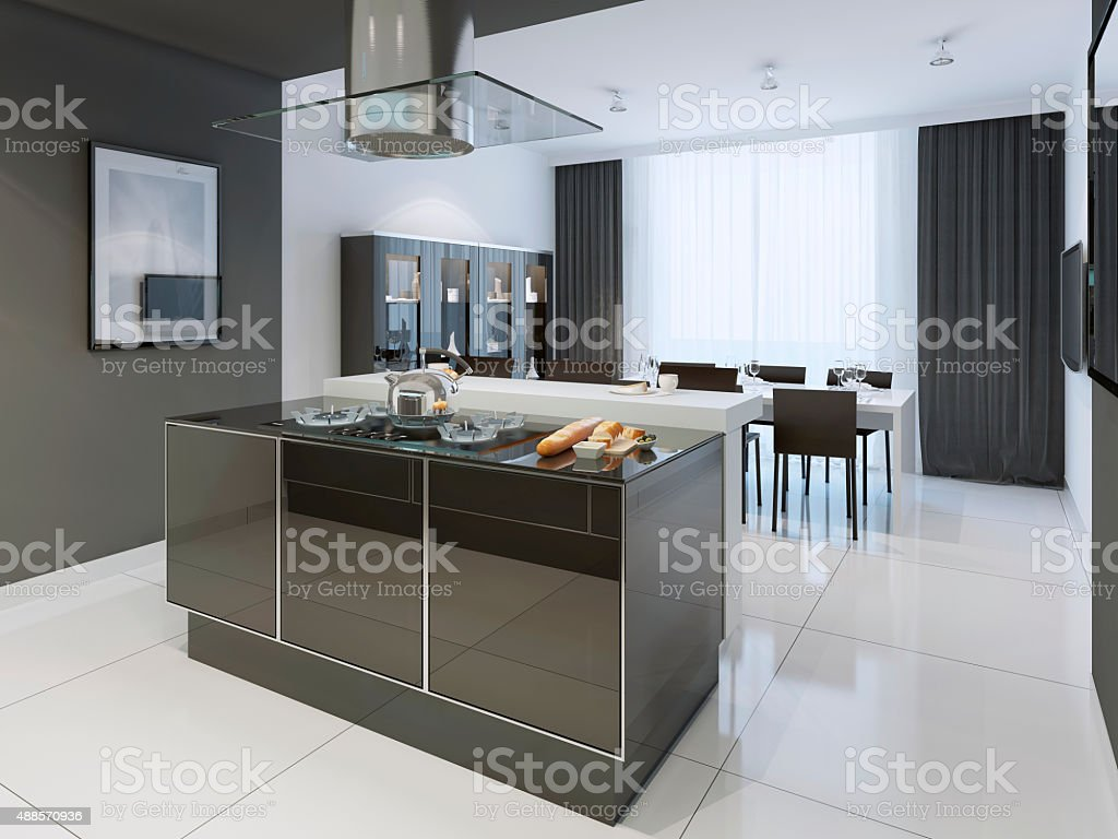 Black And White Kitchen Modern Style Stock Photo Download Image Now Istock