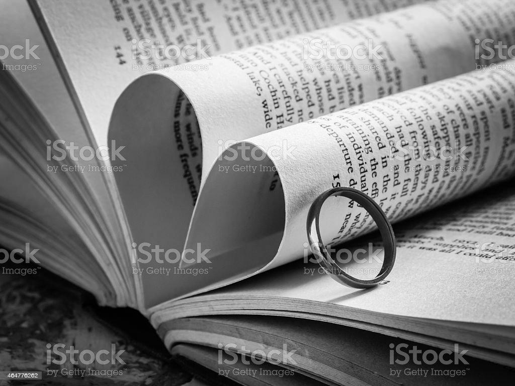 Photo Libre De Droit De Noir Et Blanc Amour Coeur Dans Un