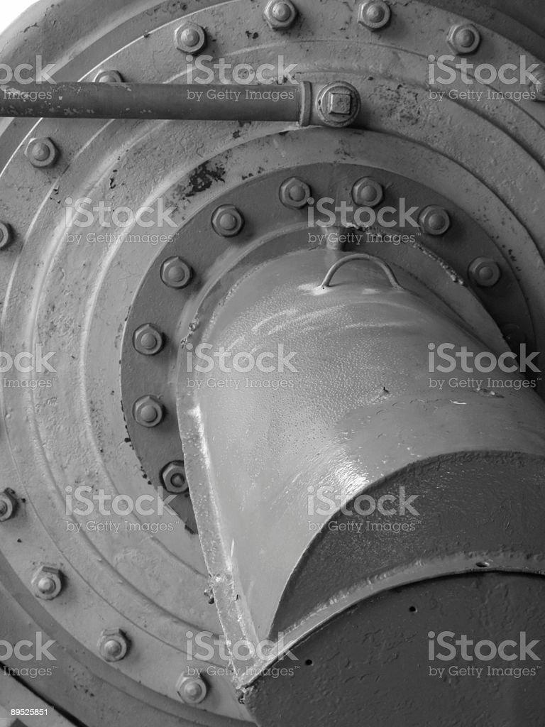 Black and white machine royalty-free stock photo
