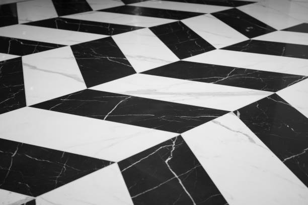 Black and white marble texture Were arranged alternately to create patterns For interior design of buildings and houses Texture concept, free space background and copy spaces. Black and white marble texture Were arranged alternately to create patterns For interior design of buildings and houses Texture concept, free space background and copy spaces. alternately stock pictures, royalty-free photos & images