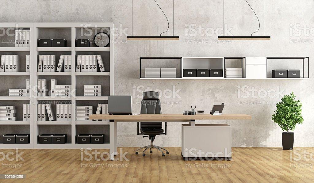 Noir et blanc bureau moderne u photos et plus d images de affaires