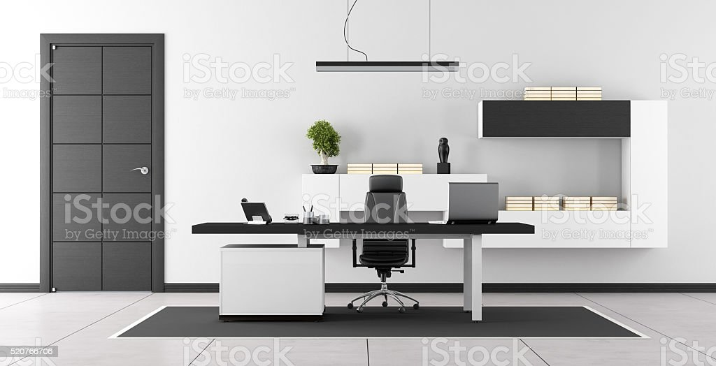 L espace coworking de bureau moderne image stock image du noir