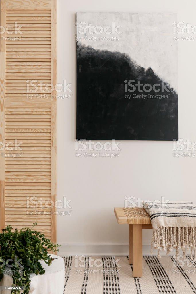 Schwarzweiß Moderne Malerei An Der Wand Von Elegantem ...