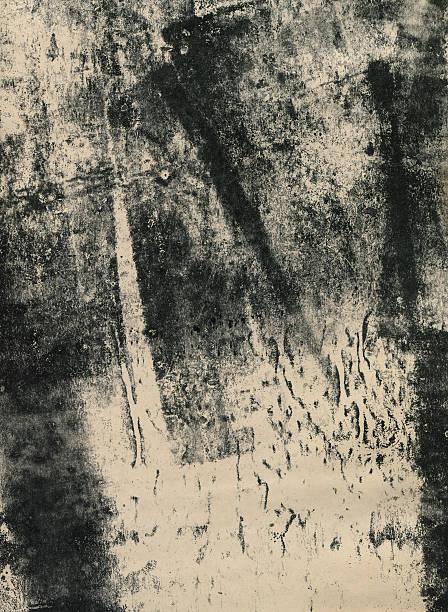 Black and white monoprint stock photo