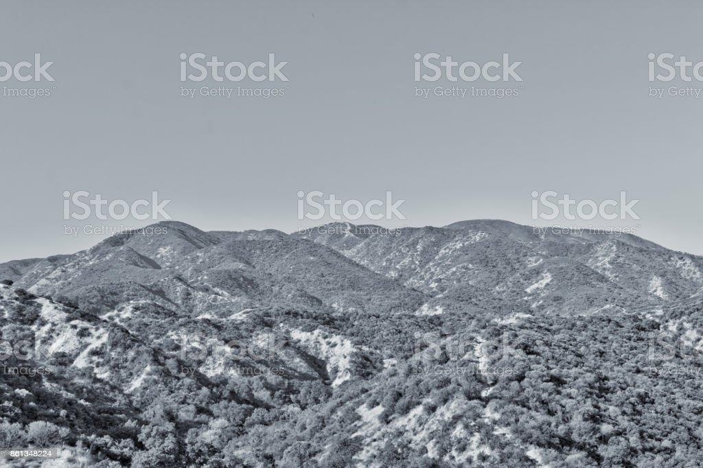 Black and white mountains California stock photo