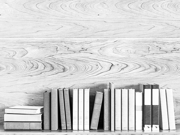 Black And White Old Books 3D Illustration Stock Photo