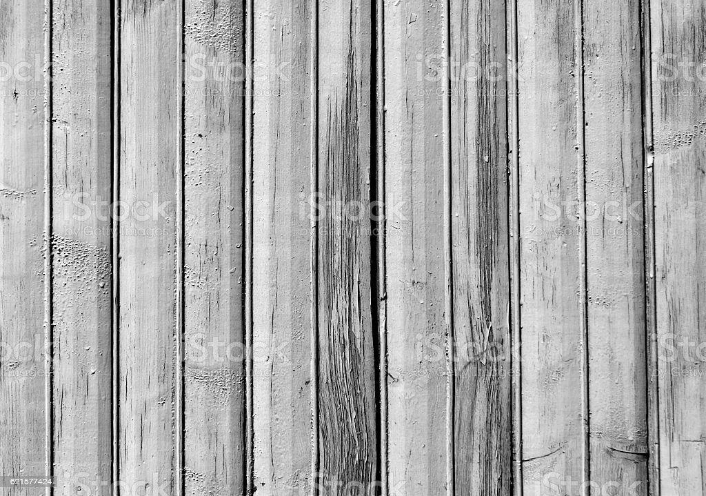 Black and white old wooden fence texture. photo libre de droits