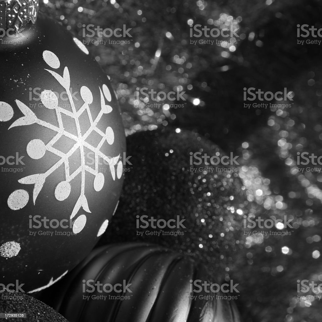 black and white ornament royalty-free stock photo