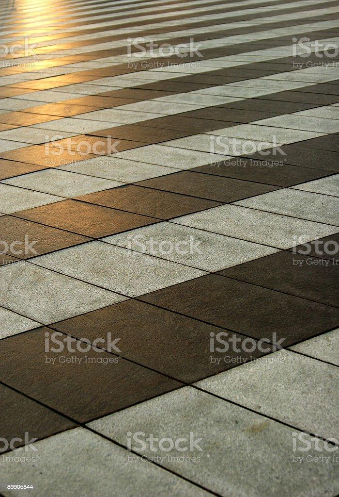 Черный и белый pavement Стоковые фото Стоковая фотография