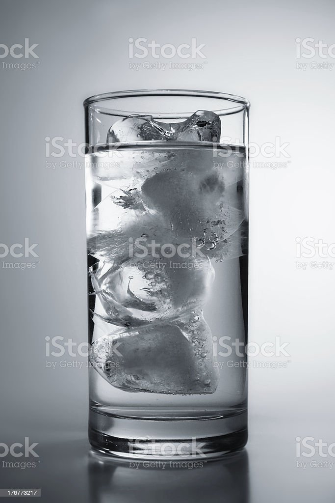 Black and White Photo of Ice Water royalty-free stock photo