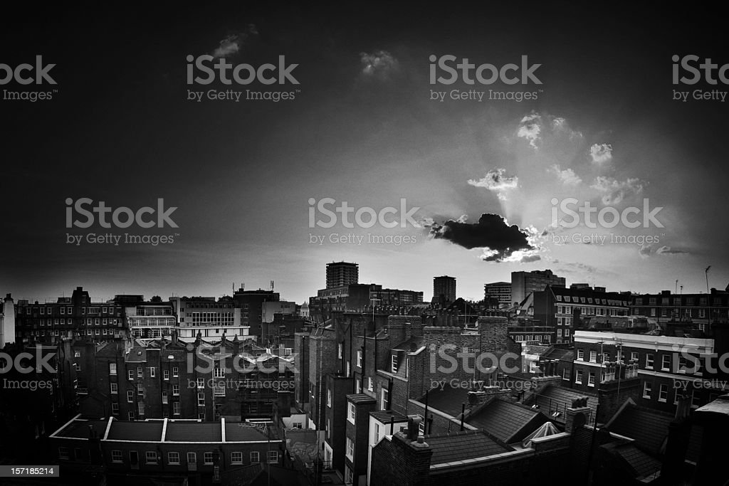 Black and White Photo of London England royalty-free stock photo