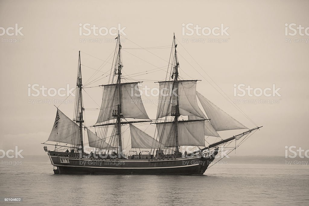 The Tall Ships visited Tacoma, Washington July 2008 and paraded in...
