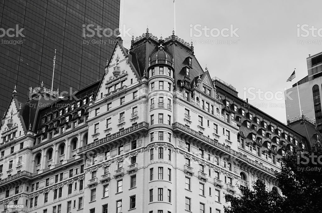Black and white picture of New York stock photo